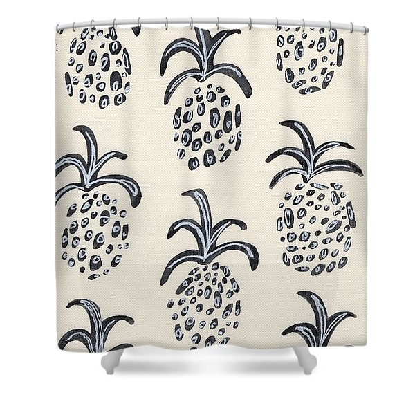 Pineapple Print Shower Curtain