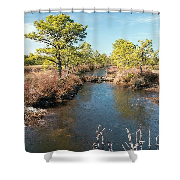 Pinelands Water Way Shower Curtain