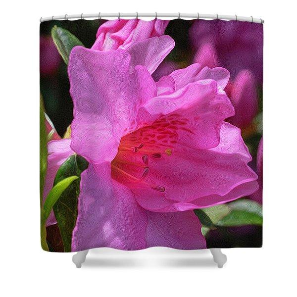 Pink Azalea Shower Curtain