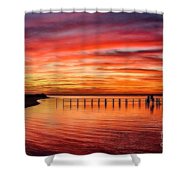 Pink Bay Shower Curtain