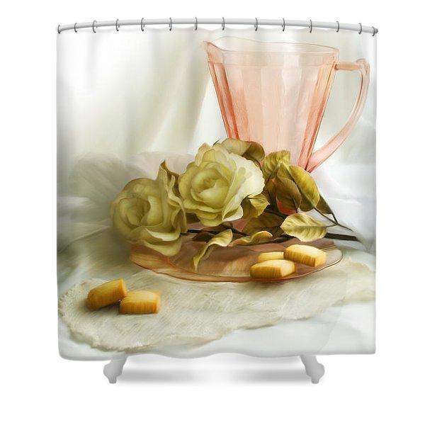 Pink Blush 1 Shower Curtain