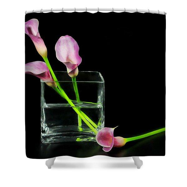 Pink Callas Shower Curtain