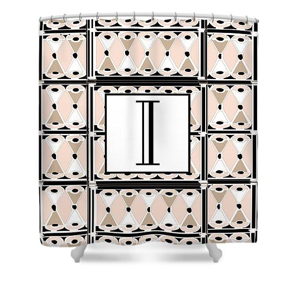 Pink Champagne Deco Monogram  I Shower Curtain