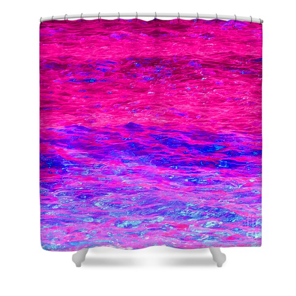 Pink Fantasy Waters Abstract Shower Curtain