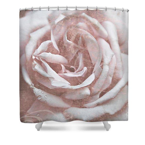 Pink Garden Rose Shower Curtain