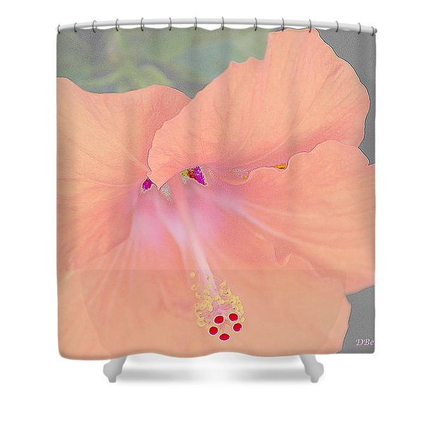 Pink Heavenly Hibiscus Shower Curtain