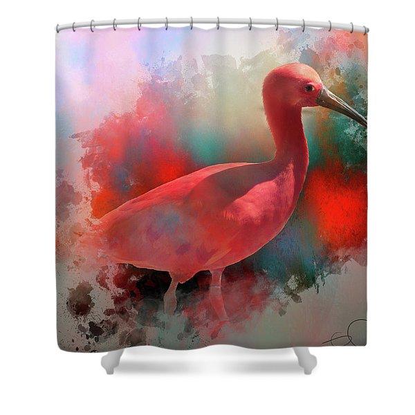 Pink Ibis Shower Curtain