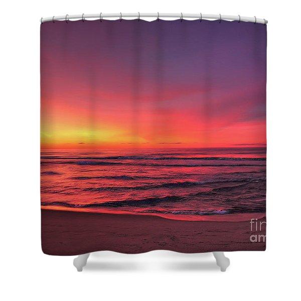 Pink Lbi Sunrise Shower Curtain