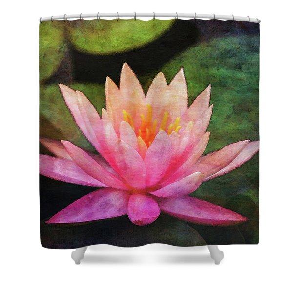 Pink Lotus 4134 Idp_2 Shower Curtain