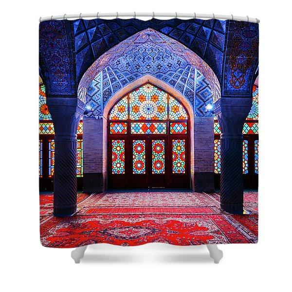 Pink Mosque, Iran Shower Curtain