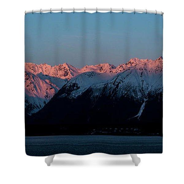 Pink Peaks  Shower Curtain