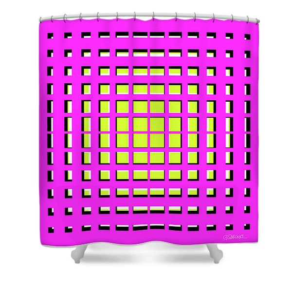 Pink Polynomial Shower Curtain