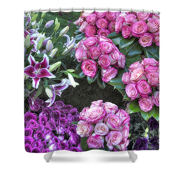 Pink, Purple And Lillies Shower Curtain