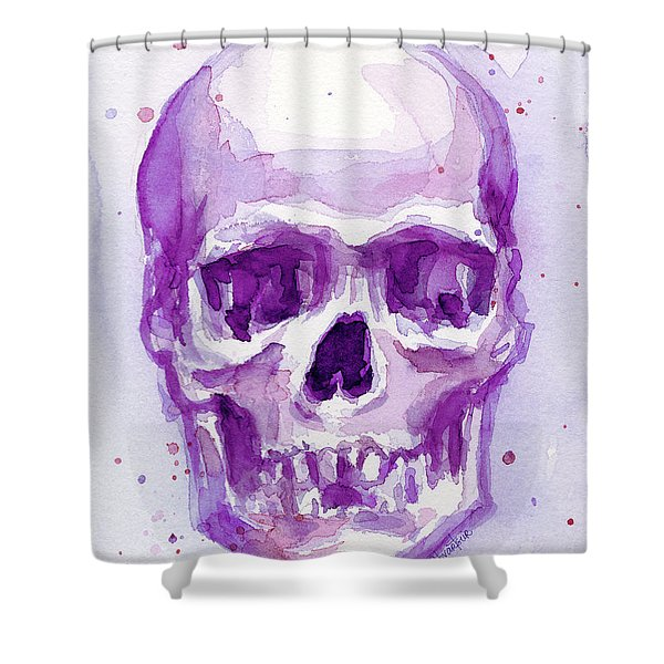 Pink Purple Skull Shower Curtain