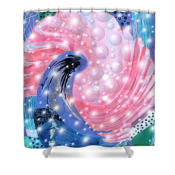 Pink Shell Fantasia Shower Curtain
