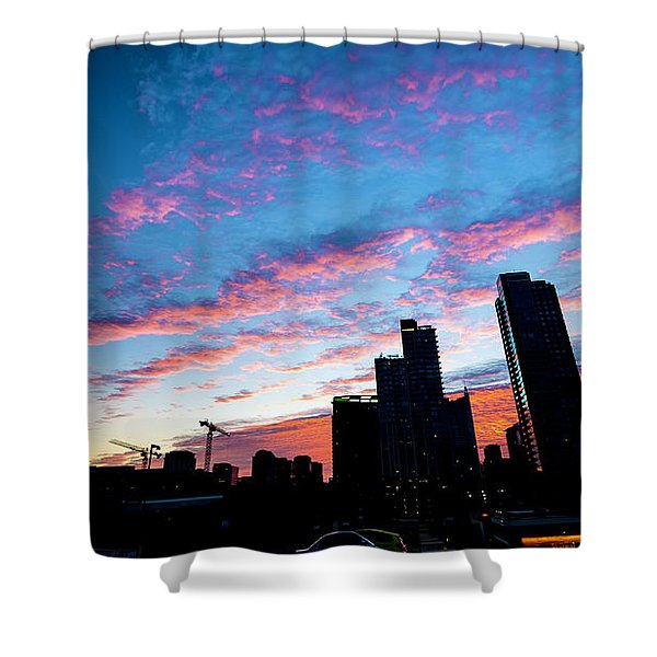 Pink Sunrise Shower Curtain