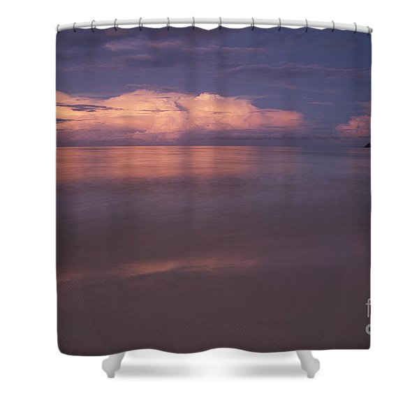 Pink Sunset At Kalama Beach Shower Curtain
