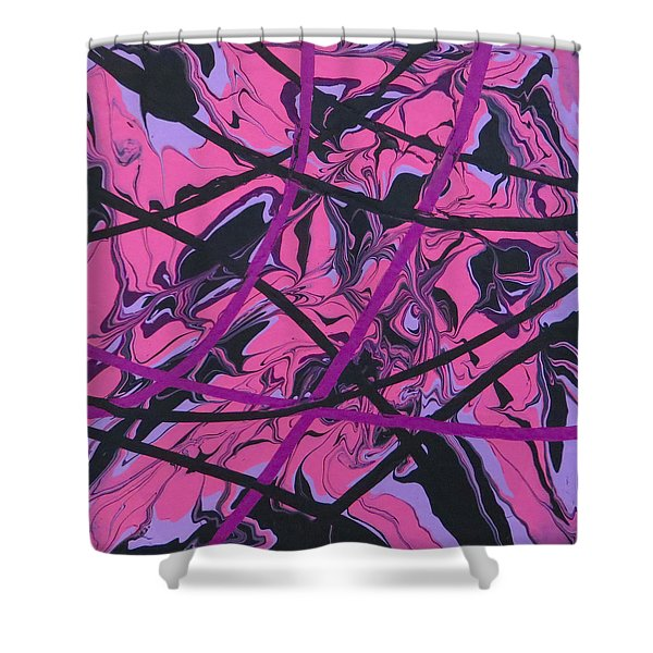 Pink Swirl Shower Curtain