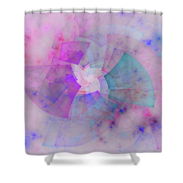 Pink Vinyl Record Music Shower Curtain