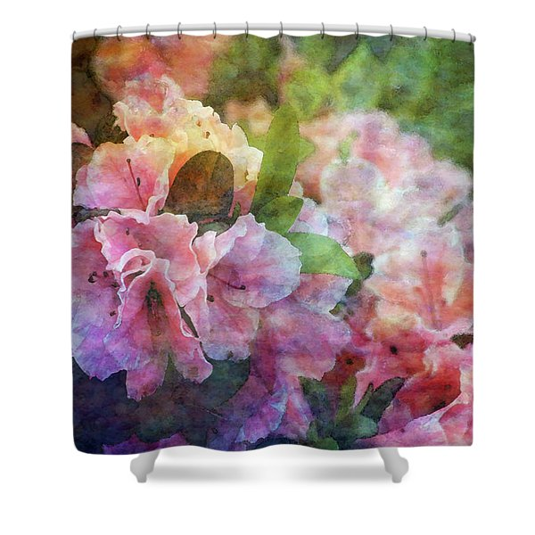Pink With White Frills 1503 Idp_3 Shower Curtain