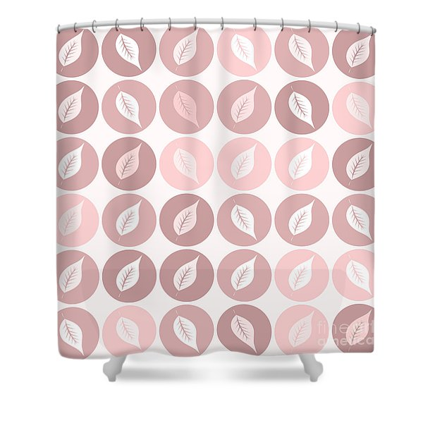Pinkish Leaves Shower Curtain