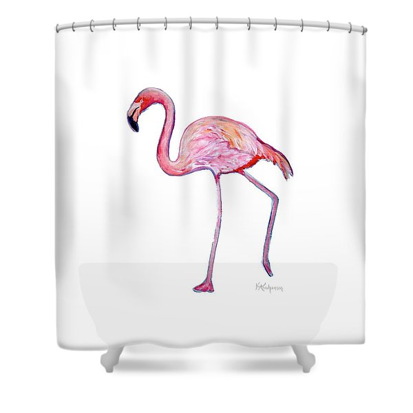 Pinky The Flamingo Shower Curtain