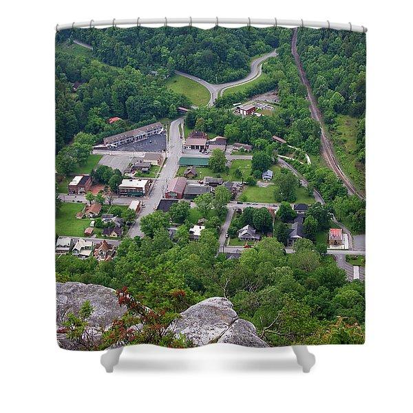 Pinnacle Overlook In Kentucky Shower Curtain