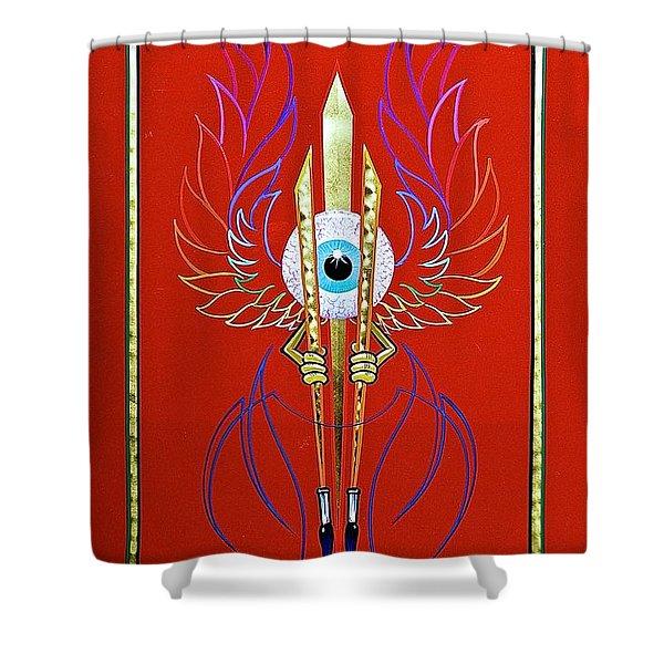 Pinstriper's Icon Shower Curtain