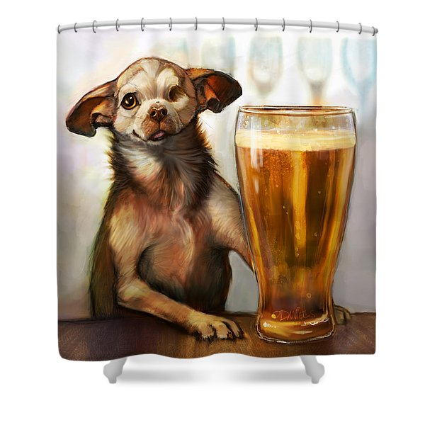 Pint Sized Hero Shower Curtain