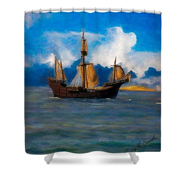 Pinta Replica Shower Curtain