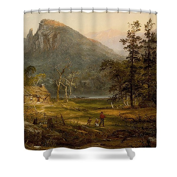 Pioneer's Home Eagle Cliff  White Mountains Shower Curtain