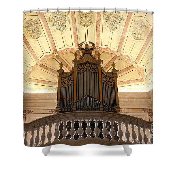 Pipe Organ Shower Curtain