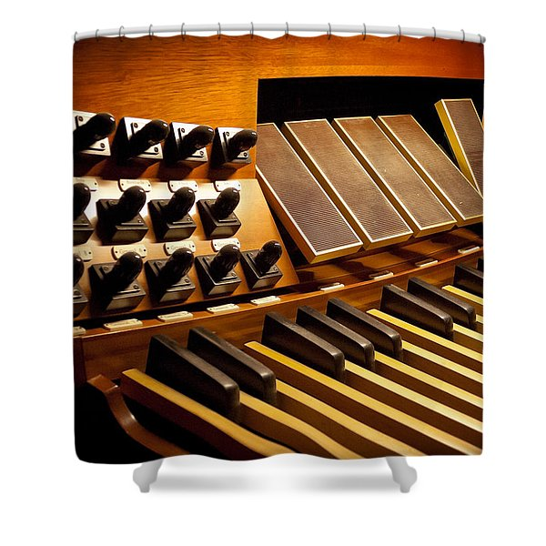 Pipe Organ Pedals Shower Curtain