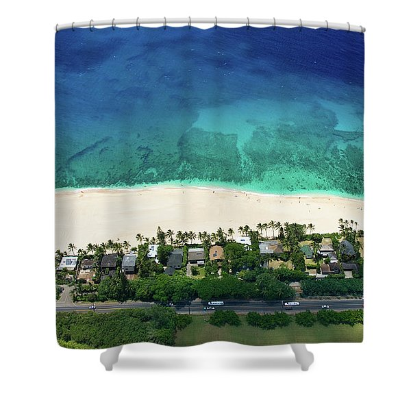 Pipeline Reef Overview Shower Curtain