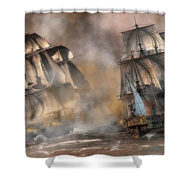Pirate Battle Shower Curtain
