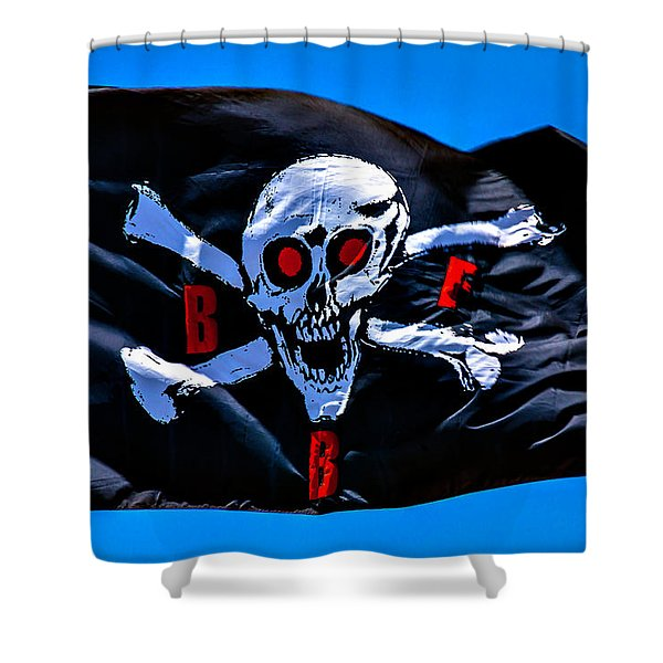 Pirate War Flag Shower Curtain