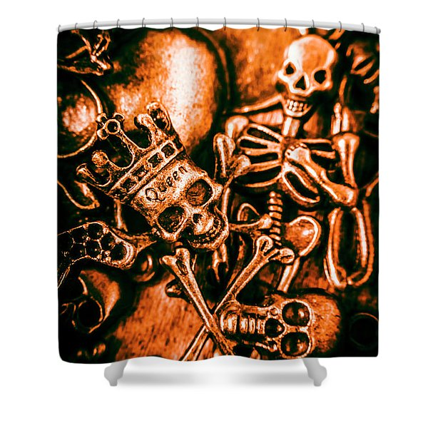 Pirates Treasure Box Shower Curtain