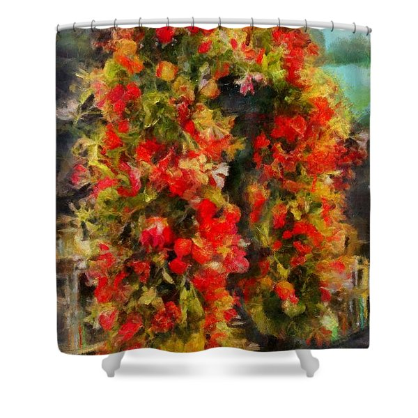 Pi's Flowers 2 Shower Curtain