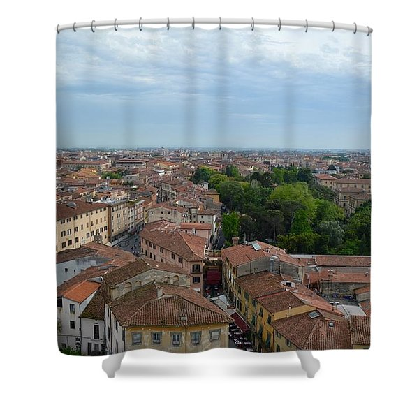 Pisa From Above Shower Curtain