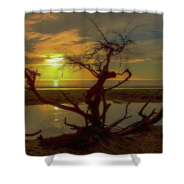 Pismo Sunset Shower Curtain