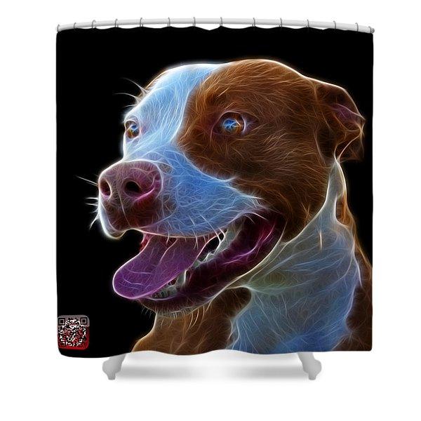 Pit Bull Fractal Pop Art - 7773 - F - Bb Shower Curtain
