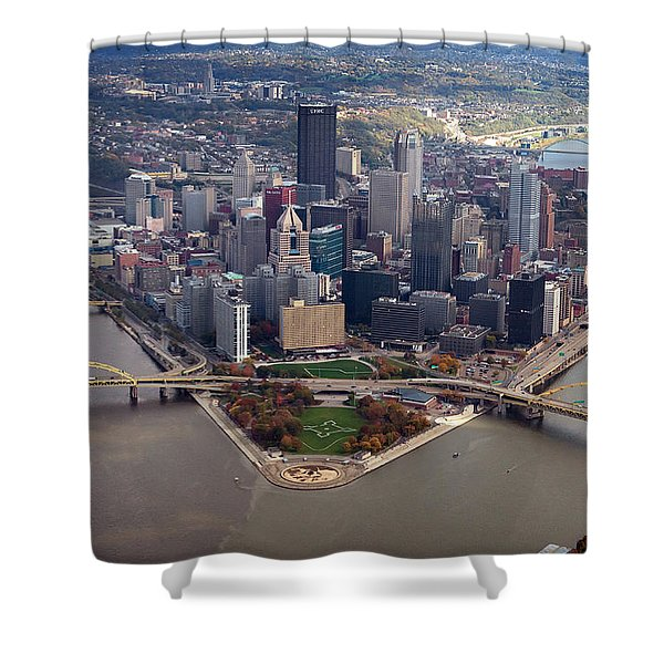 Pittsburgh 8 In Color  Shower Curtain
