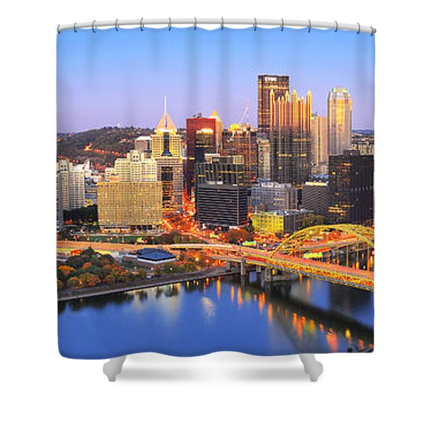 Pittsburgh Pano 22 Shower Curtain