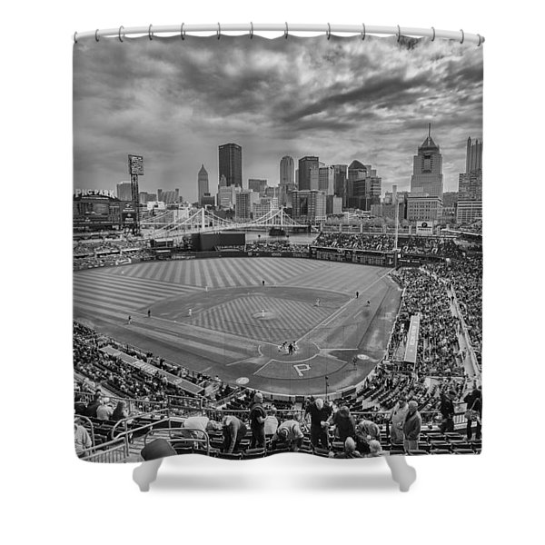 Pittsburgh Pirates Pnc Park Bw X1 Shower Curtain