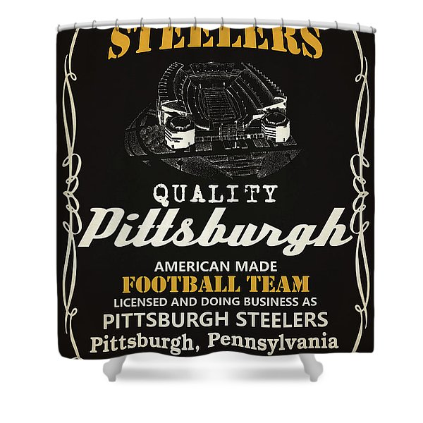 Pittsburgh Steelers Whiskey Shower Curtain