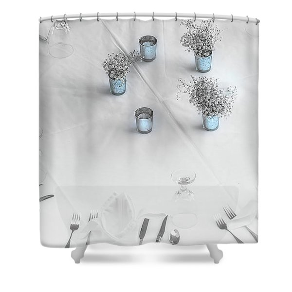 Place Settings Shower Curtain