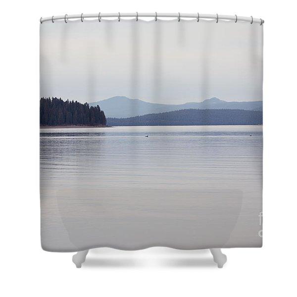 Placid Mountain Lake Shower Curtain