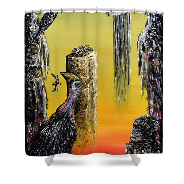 Planet Of Anomalies Shower Curtain
