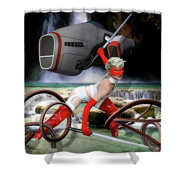 Planet Of Terror Shower Curtain