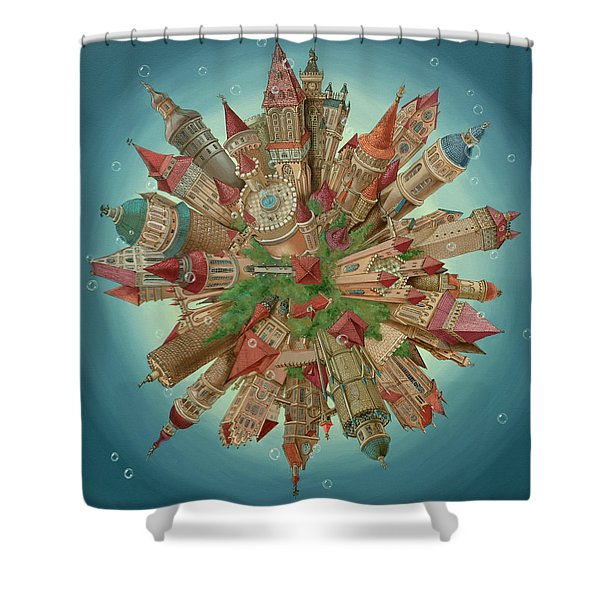 Planetoid Shower Curtain